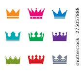 set of color vector crowns | Shutterstock .eps vector #275057888