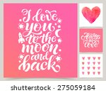 vector collection of four cards ... | Shutterstock .eps vector #275059184
