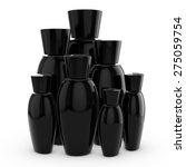 3d black blank cosmetic bottles ... | Shutterstock . vector #275059754
