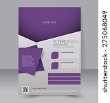 flyer template. business... | Shutterstock .eps vector #275068049