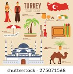 country turkey travel vacation... | Shutterstock .eps vector #275071568