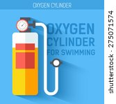 oxygen cylinder for swimming. ... | Shutterstock .eps vector #275071574