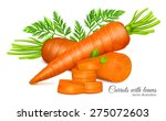 carrots with leaves and carrot... | Shutterstock .eps vector #275072603