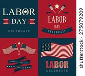labor day icon and background   Shutterstock .eps vector #275079209