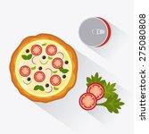 pizza design over white... | Shutterstock .eps vector #275080808