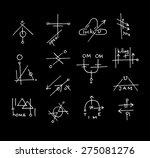 supreme freehand modern hipster ... | Shutterstock .eps vector #275081276