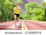 running man sprinting looking... | Shutterstock . vector #275083976
