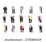 isolated groups standing... | Shutterstock . vector #275084429