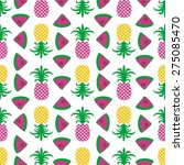 seamless summer pineapple fruit ... | Shutterstock .eps vector #275085470