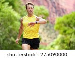 runner looking at heart rate... | Shutterstock . vector #275090000