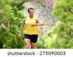 running looking at heart rate... | Shutterstock . vector #275090003