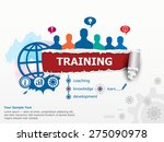 training concept and group of... | Shutterstock .eps vector #275090978