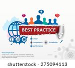 best practice concept and group ...   Shutterstock .eps vector #275094113
