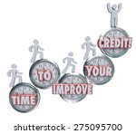 time to improve your credit... | Shutterstock . vector #275095700