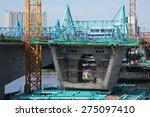 concrete bridge across... | Shutterstock . vector #275097410