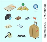 travel icon isometric concept... | Shutterstock .eps vector #275098430