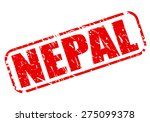 nepal red stamp text on white | Shutterstock .eps vector #275099378
