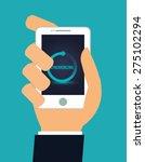technology design over blue... | Shutterstock .eps vector #275102294