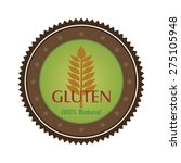 isolated gluten free label with ... | Shutterstock .eps vector #275105948