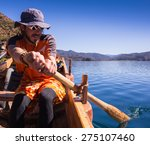 people on the boat on a... | Shutterstock . vector #275107460
