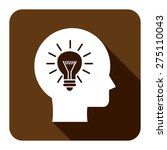 brown square head with light... | Shutterstock . vector #275110043