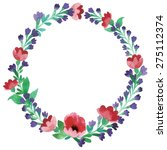 floral frame. cute succulents... | Shutterstock .eps vector #275112374