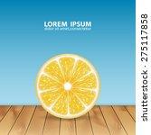 background with lemon slice.... | Shutterstock .eps vector #275117858