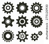 set of gear icon on white | Shutterstock .eps vector #275120930