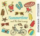 Retro Summer Vacation Set With...