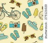 hand drawn summer vacation... | Shutterstock .eps vector #275121020