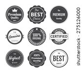premium quality emblem... | Shutterstock .eps vector #275126000