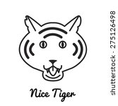 tiger logo or icon in vector | Shutterstock .eps vector #275126498