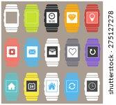 smartwatch wearable technology... | Shutterstock .eps vector #275127278