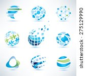 abstract globe symbol set...