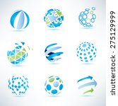 abstract globe symbol set... | Shutterstock .eps vector #275129999