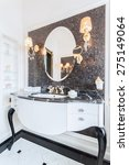 big black fancy mirror in... | Shutterstock . vector #275149064