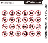 prohibition vector icons | Shutterstock .eps vector #275149280