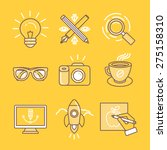 vector linear icons and signs... | Shutterstock .eps vector #275158310