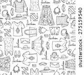 vector seamless pattern of hand ... | Shutterstock .eps vector #275159540