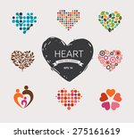 Set Of Vector Heart Icons ...