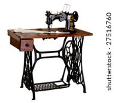 The Old Sewing Machine On A...