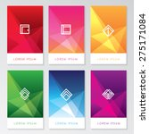 abstract colorful user interface template set collection labels in geometric triangular pattern with trendy white thin line logos   Shutterstock vector #275171084