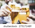 group of friends toasting with... | Shutterstock . vector #275171489