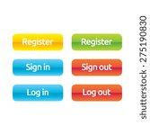 register sign in sign out log... | Shutterstock .eps vector #275190830