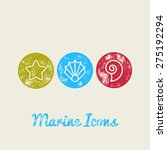 seashells marine retro icons  ... | Shutterstock .eps vector #275192294