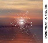 scientific design template with ...   Shutterstock .eps vector #275202488