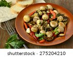salad with mushrooms  roasted... | Shutterstock . vector #275204210