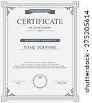 vector certificate template. | Shutterstock .eps vector #275205614