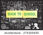 hand drawn back to school... | Shutterstock .eps vector #275205650