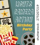 movie party | Shutterstock .eps vector #275207219